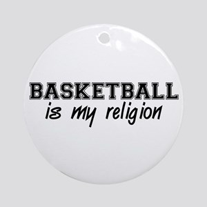 Basketball Religion Round Ornament