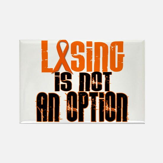 Losing Is Not An Option 5 ORANGE Rectangle Magnet