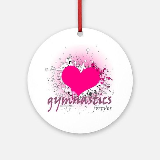 Love Gymnastics Forever Ornament (Round)