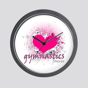 Love Gymnastics Forever Wall Clock