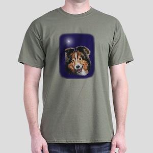 Sheltie Christmas Dark T-Shirt