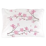Cherry blossoms trees Pillow Cases