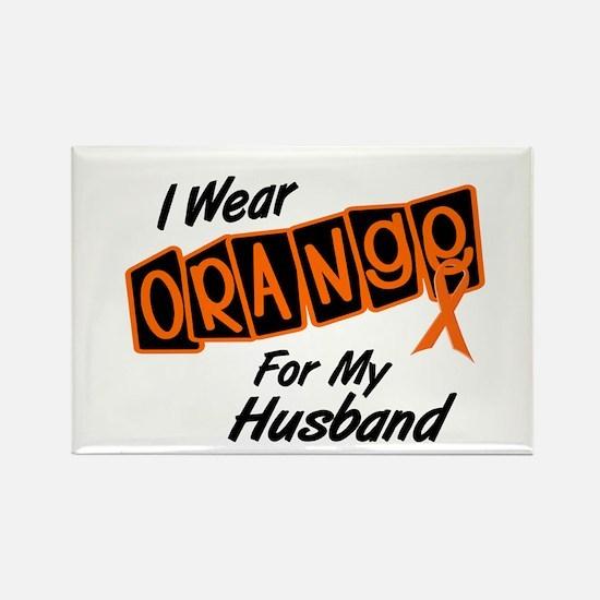 I Wear Orange For My Husband 8 Rectangle Magnet