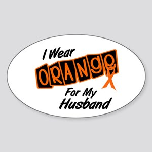 I Wear Orange For My Husband 8 Oval Sticker