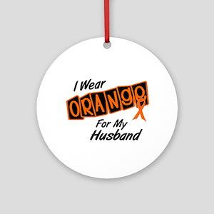 I Wear Orange For My Husband 8 Ornament (Round)
