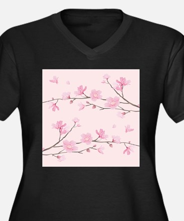 Cherry Blossom - Square Pink Plus Size T-Shirt