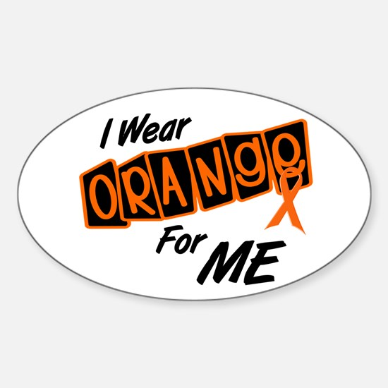 I Wear Orange For ME 8 Oval Decal
