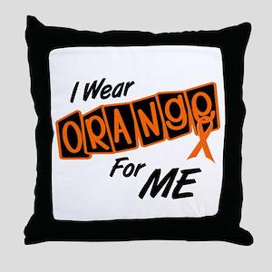 I Wear Orange For ME 8 Throw Pillow
