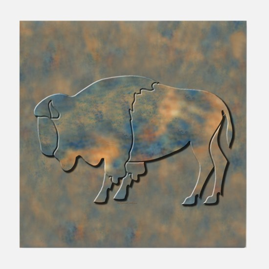 Bison Tile Coaster