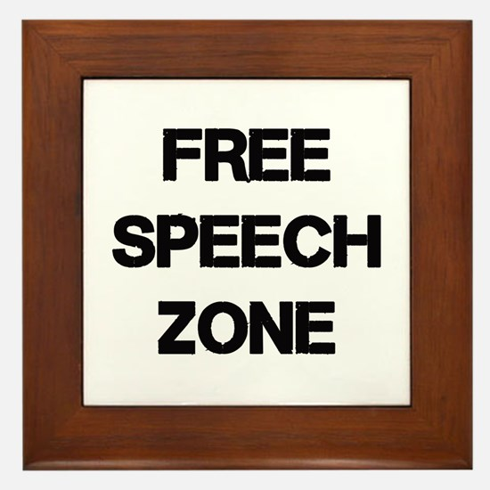 Free Speech Framed Tile