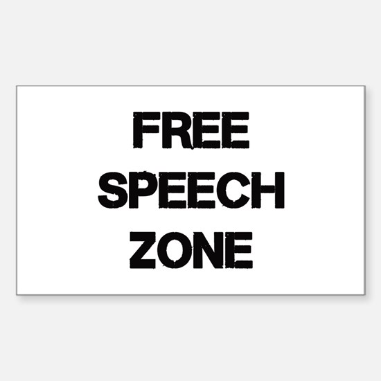 Free Speech Sticker (Rectangle)