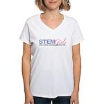 STEMGirls Logo Gear Women's V-Neck T-Shirt