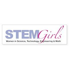 STEMGirls Logo Gear Bumper Sticker (10 pk)