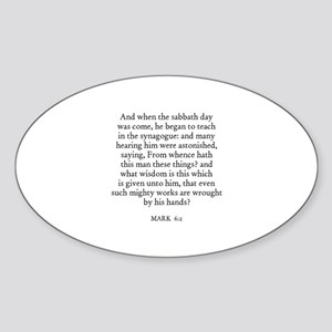 MARK 6:2 Oval Sticker