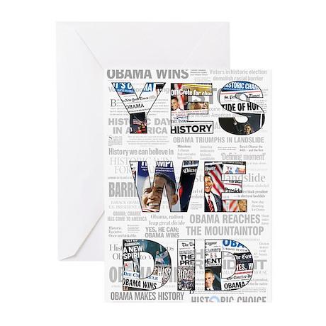 Yes We Did: Historic Obama Ne Greeting Cards (Pk o