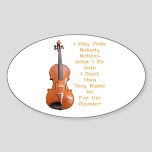 I Play Viola Oval Sticker