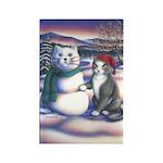 Snowcats Rectangle Magnet