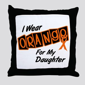 I Wear Orange For My Daughter 8 Throw Pillow
