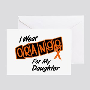 I Wear Orange For My Daughter 8 Greeting Card