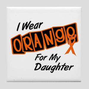 I Wear Orange For My Daughter 8 Tile Coaster