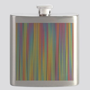 Abstract Colorful Decorative Striped Pattern Flask