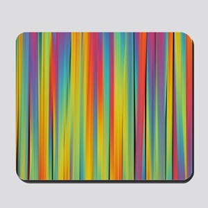 Abstract Colorful Decorative Striped Pat Mousepad