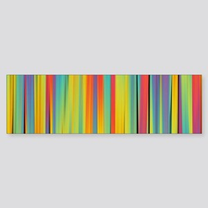 Abstract Colorful Decorative Stripe Bumper Sticker