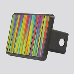 Abstract Colorful Decorati Rectangular Hitch Cover