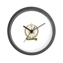 QUENNEVILLE Family Crest Wall Clock