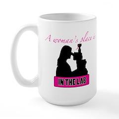 A Woman's Place Large Mug