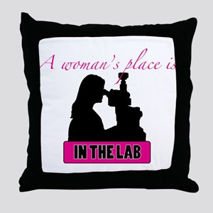 A Woman's Place Throw Pillow