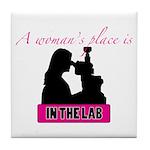 A Woman's Place Tile Coaster