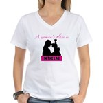 A Woman's Place Women's V-Neck T-Shirt