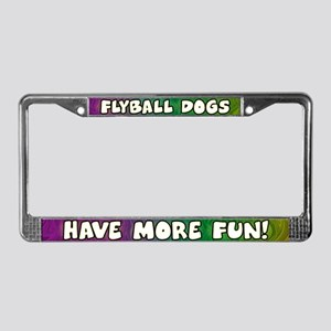 More Fun Flyball License Plate Frame