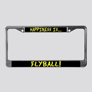 Happiness is Flyball License Plate Frame