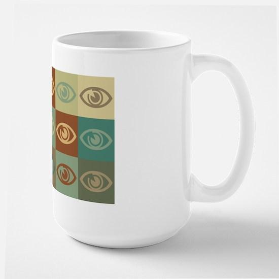 Optometry Pop Art Large Mug