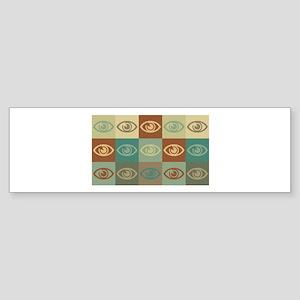 Optometry Pop Art Bumper Sticker