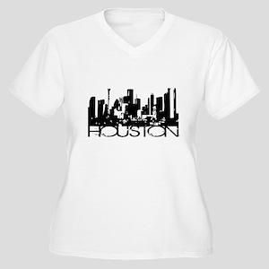 Houston Texas Downtown Graphi Women's Plus Size V-