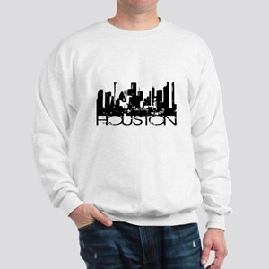 Houston Texas Downtown Graphi Sweatshirt
