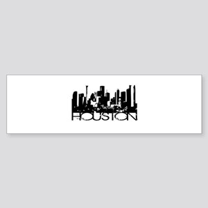 Houston Texas Downtown Graphi Bumper Sticker