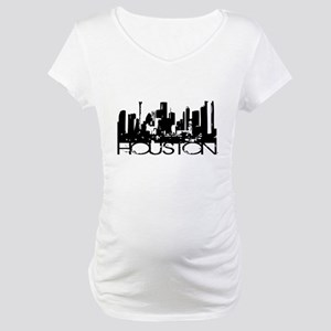 Houston Texas Downtown Graphi Maternity T-Shirt