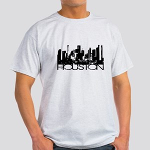 Houston Texas Downtown Graphi Light T-Shirt