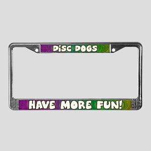 More Fun Disc Dog License Plate Frame