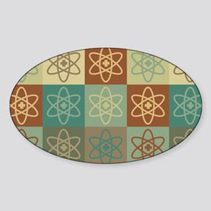 Nuclear Medicine Pop Art Oval Sticker