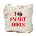 I Heart Smart Girls Tote Bag