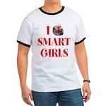 I Heart Smart Girls Ringer T