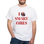 I Heart Smart Girls White T-Shirt