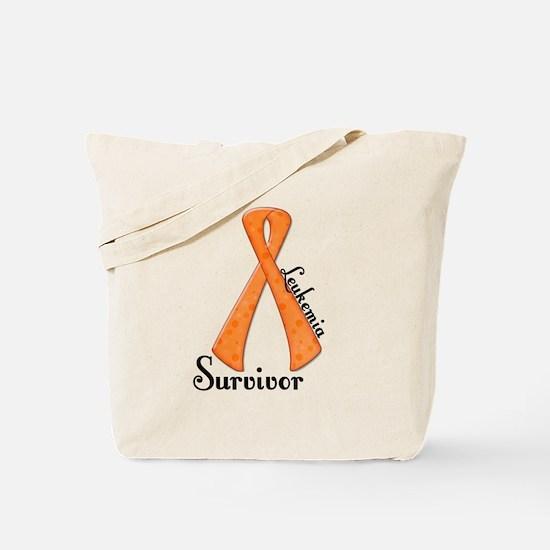 LEUKEMIA Awareness Ribbon Survivor Tote Bag
