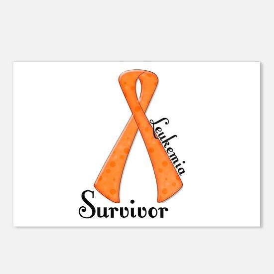 LEUKEMIA Awareness Ribbon Survivor Postcards (Pack