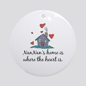 NanNan's Home is Where the Heart is Ornament (Roun